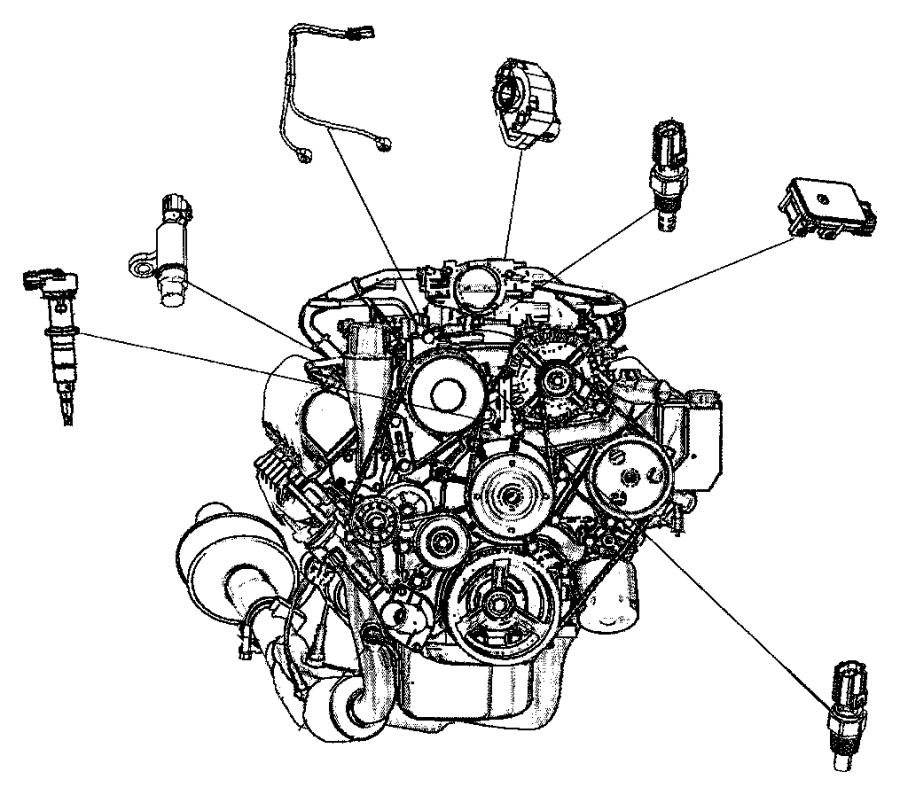 Chrysler Pacifica Sensor. Crankshaft, crankshaft position