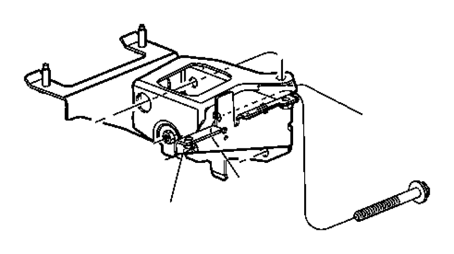 Dodge Neon Support. Engine mount. Automatic transaxle