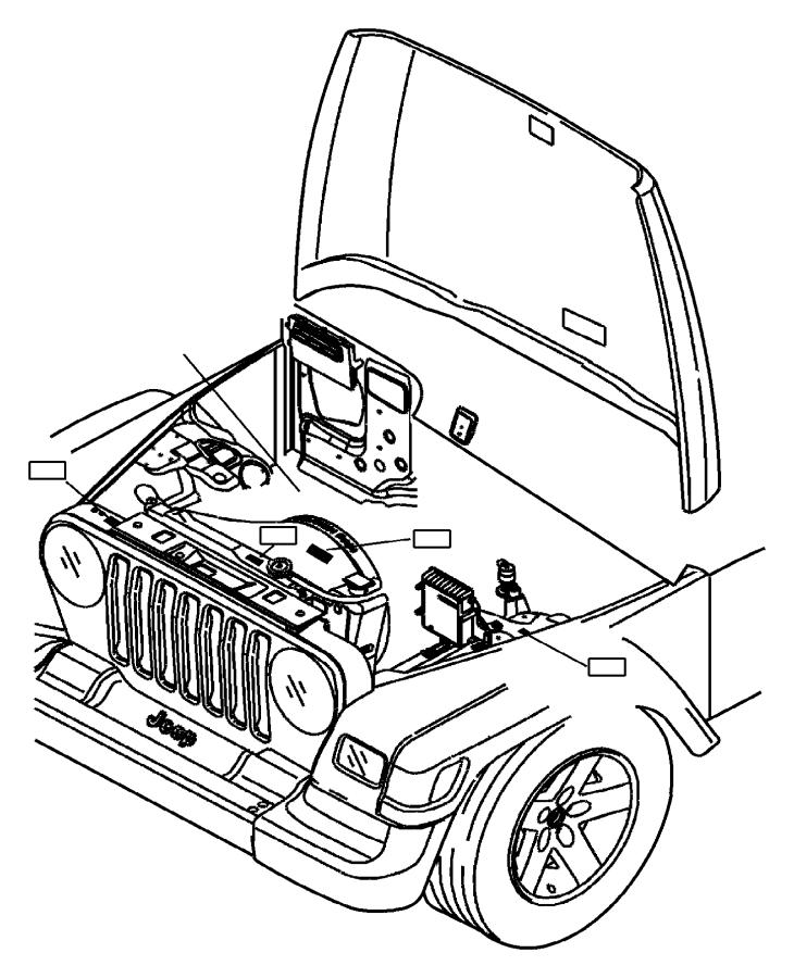 2005 Jeep Wrangler Label. Refrigerant. Plumbing
