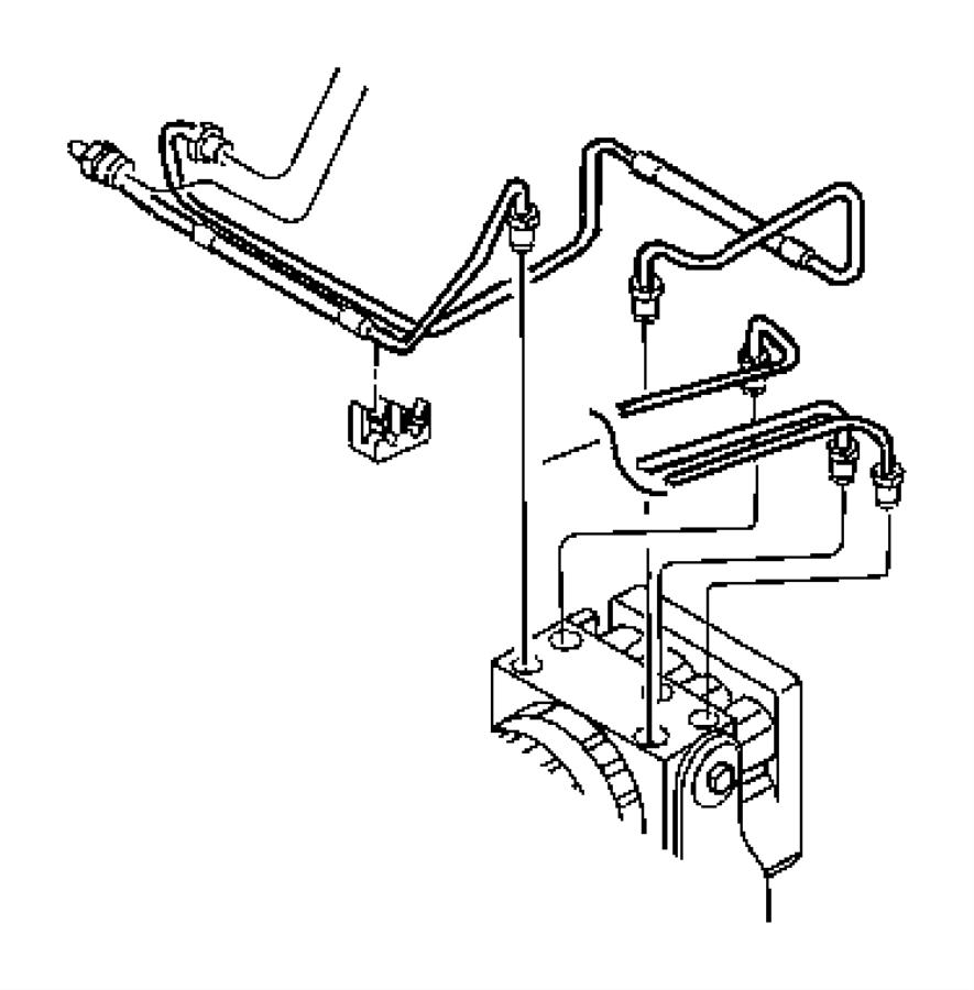 2004 Jeep Hose. Secondary. Brake. Proportioning valve to