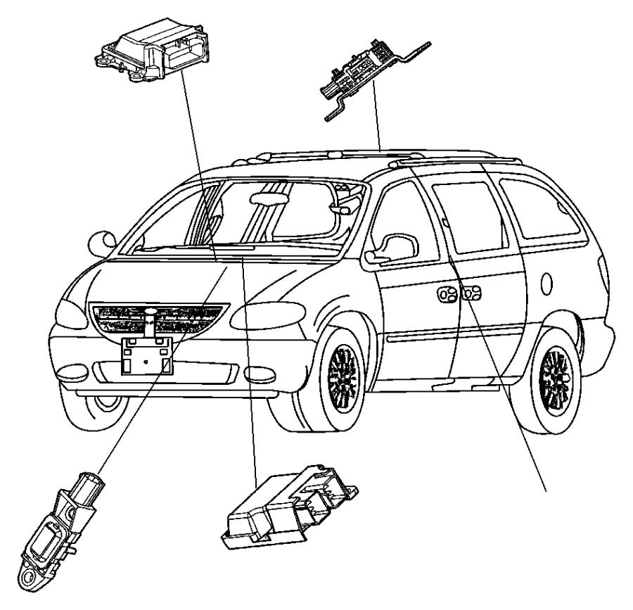 Dodge Ram 1500 Module. Air bag control, occupant restraint