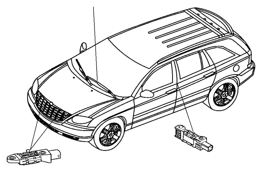 Chrysler Town & Country Sensor. Air bag, impact, side