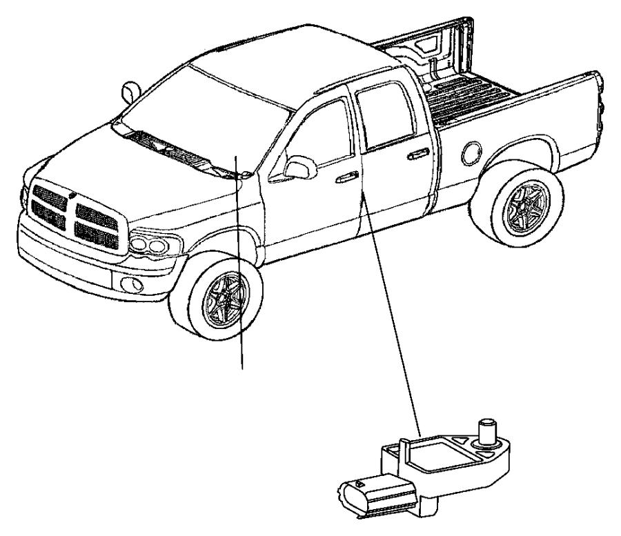 2006 Dodge Ram 2500 Sensor. Impact, side airbag impact