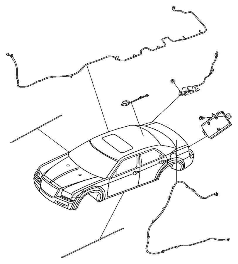 2005 Dodge Magnum Module. Radio antenna. [integrated in