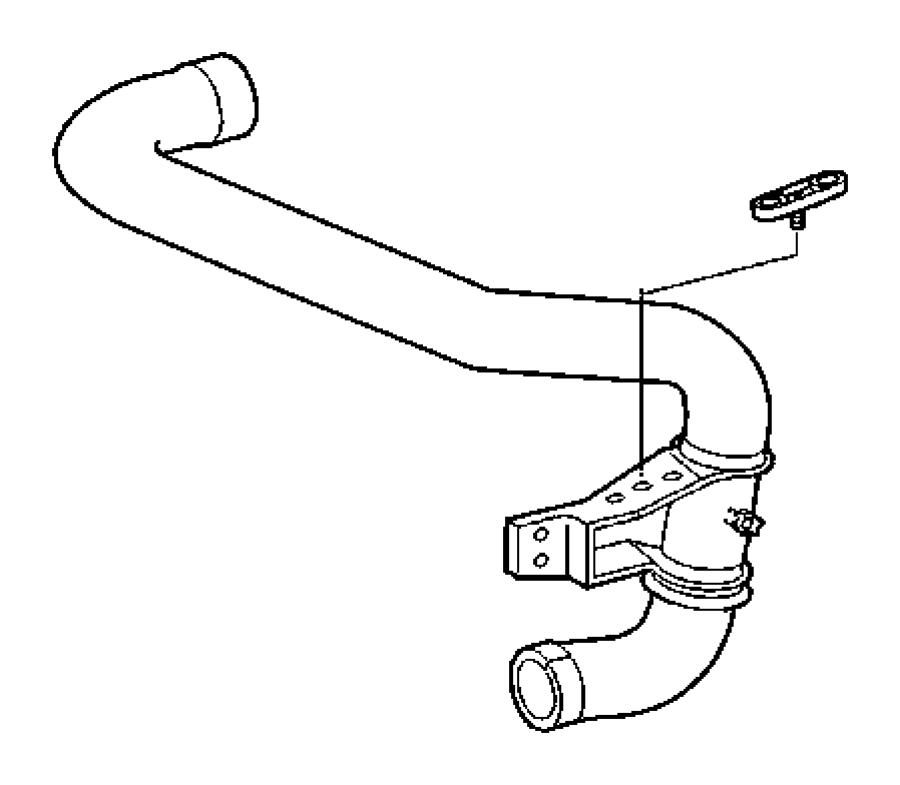 2006 Dodge Sprinter 2500 Hose. Intercooler, radiator. With