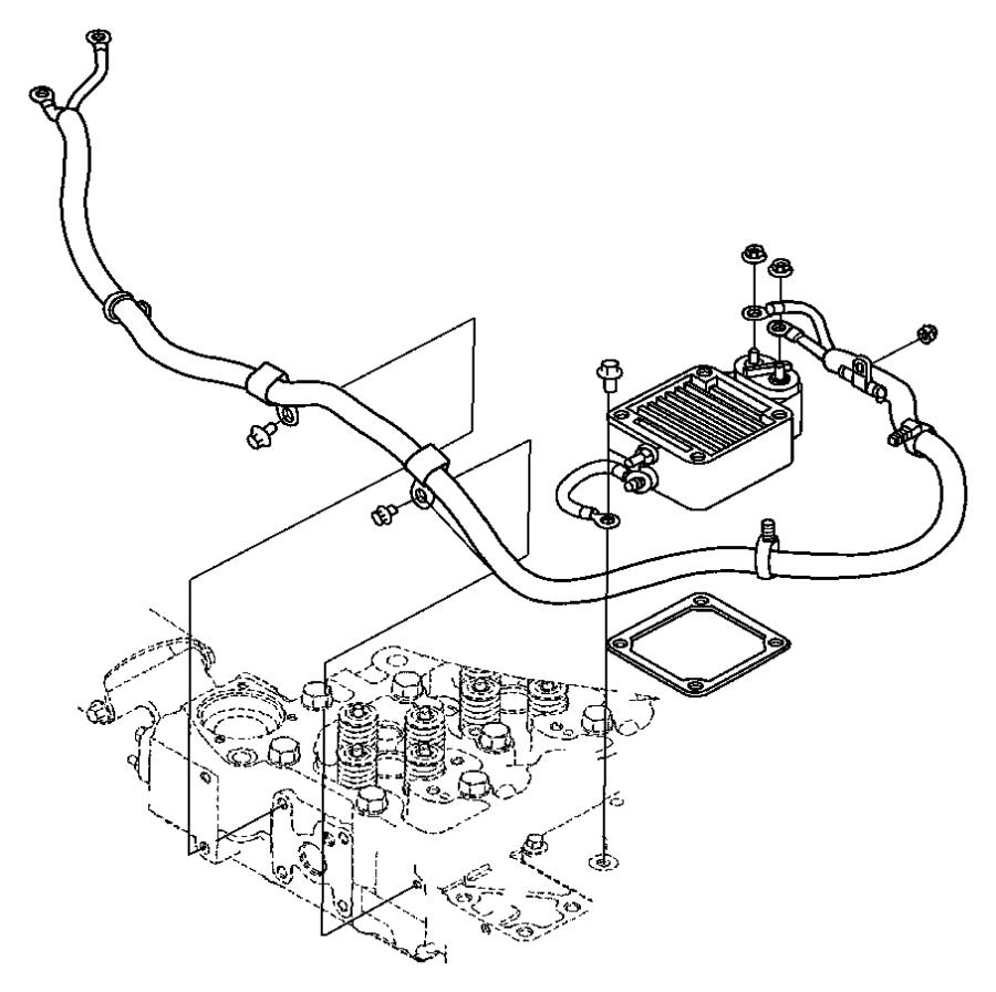 2003 Dodge Ram 2500 Wiring. Air intake heater. Up to 01/02