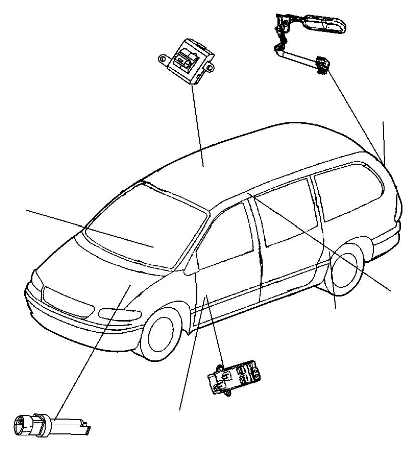 Dodge Ram 1500 Switch. Brake fluid level. Disctraction