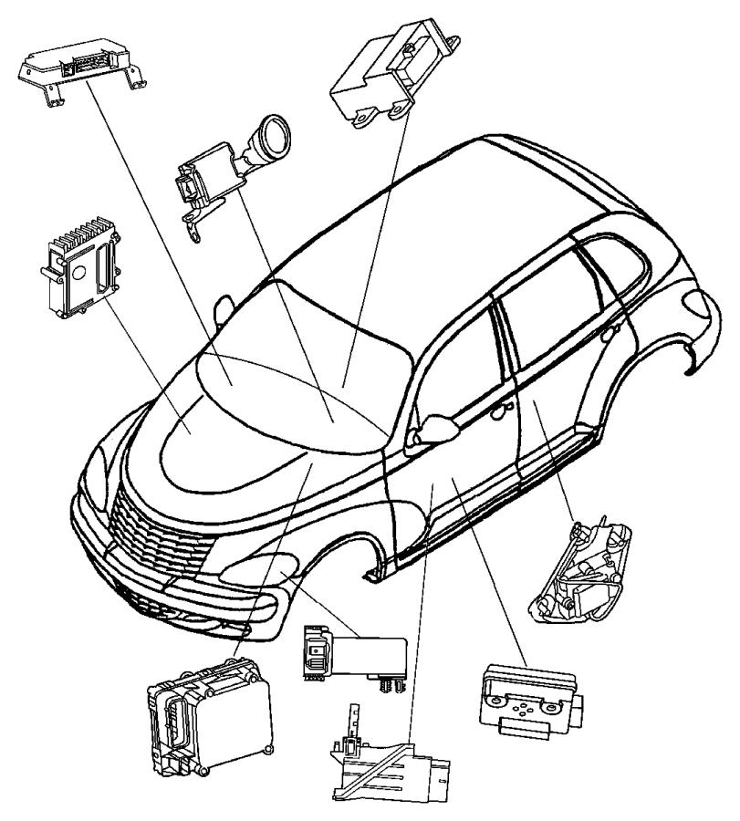 Chrysler Pt Cruiser Module. Anti-lock brakes. Perftraction