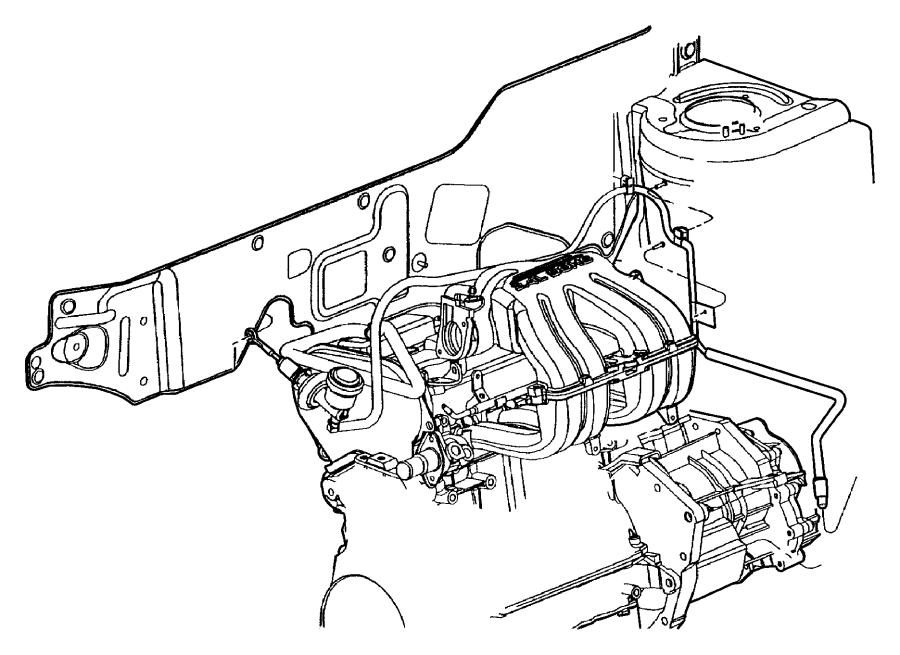 1994 Dodge Viper Clip. Accelerator cable, stud