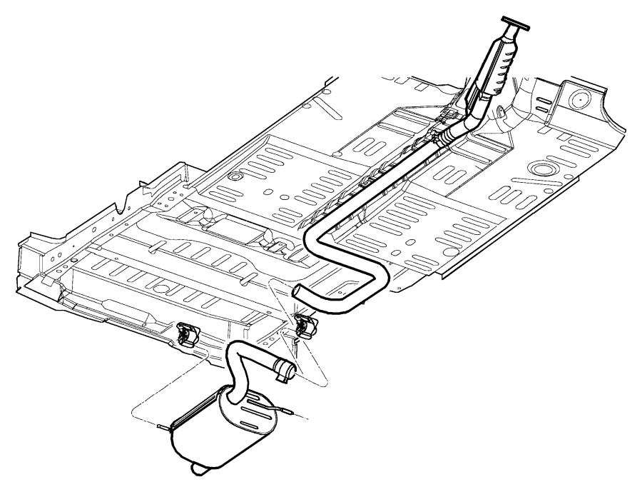 Chrysler Pt Cruiser Pipe. Exhaust extension. Intermediate