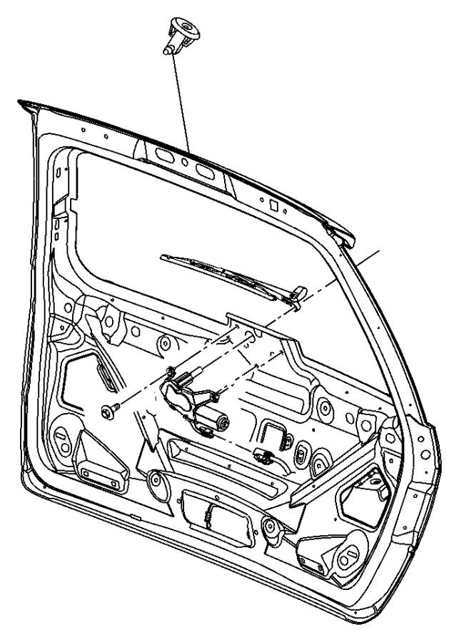 2005 Chrysler Pacifica Arm. Liftgate wiper, rear wiper
