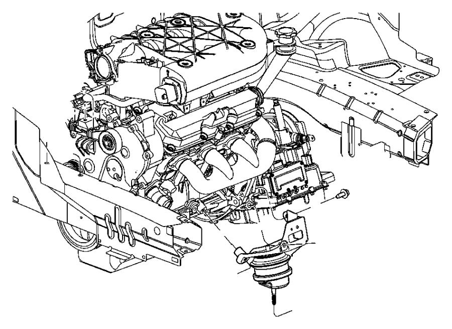 2004 Chrysler Pacifica Bracket. Engine mount. [awd], [fwd