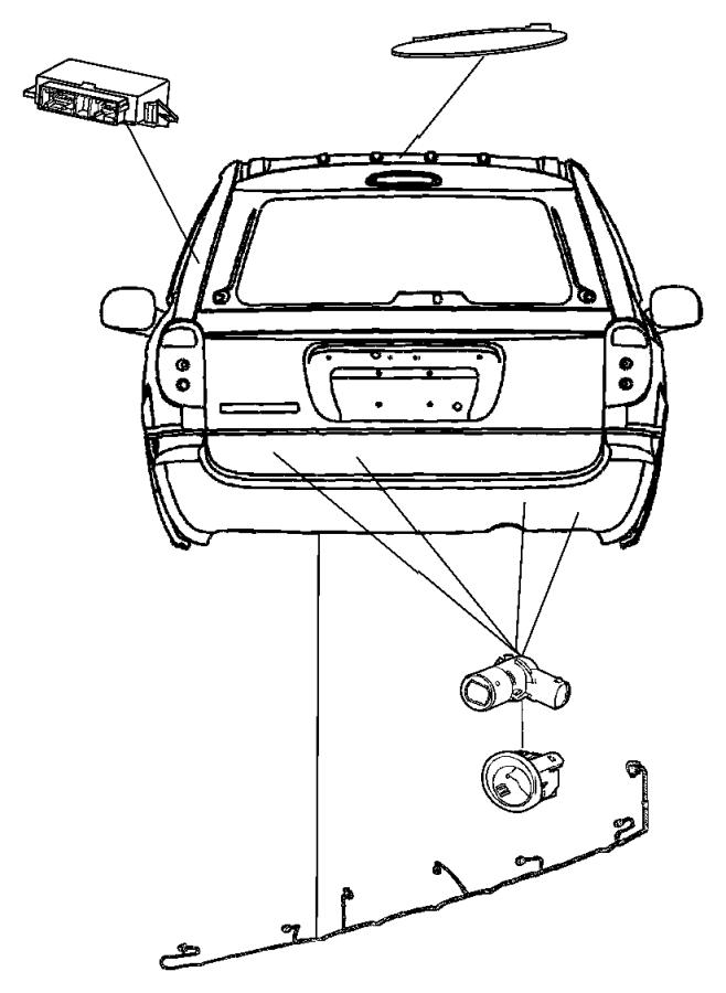 Chrysler Town & Country Sensor. Park assist