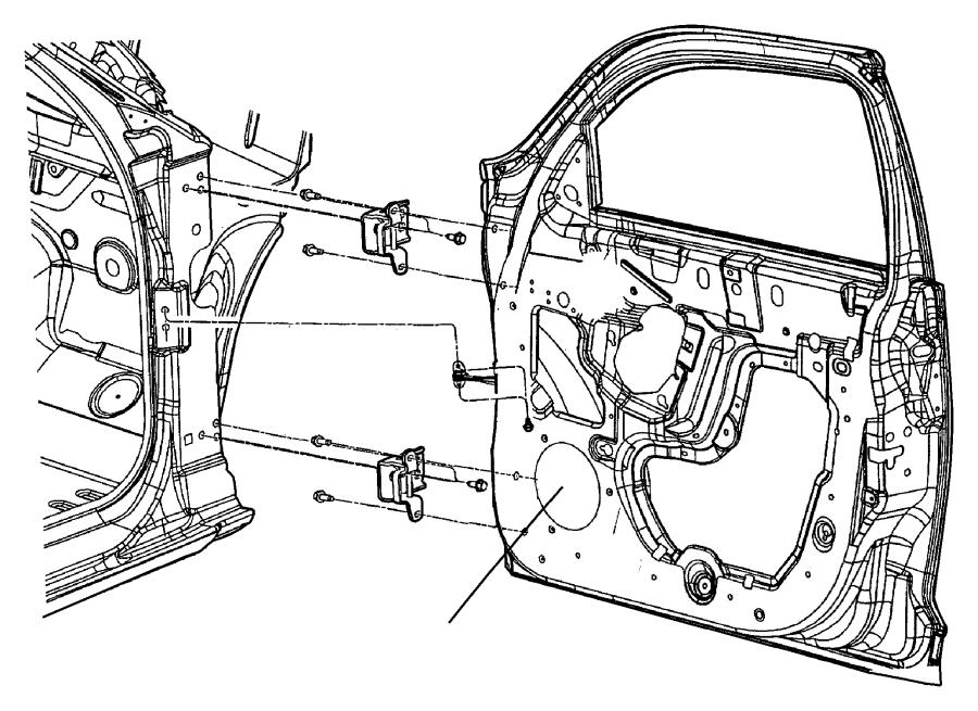 Chrysler Pt Cruiser Hinge. Front door. Left, lower, right