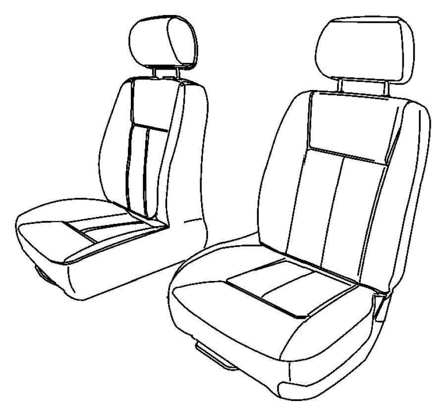 2005 Dodge Dakota Cover. Right. Front seat cushion. [d5
