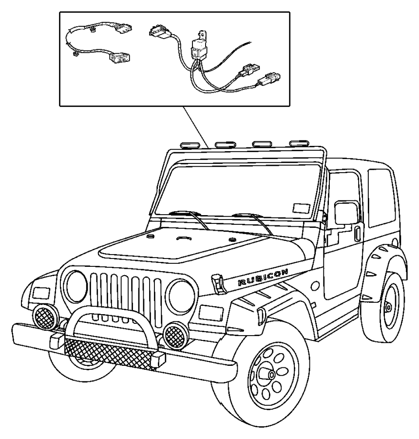 Jeep Wrangler Hook. Tow. Right, right front. Tomb