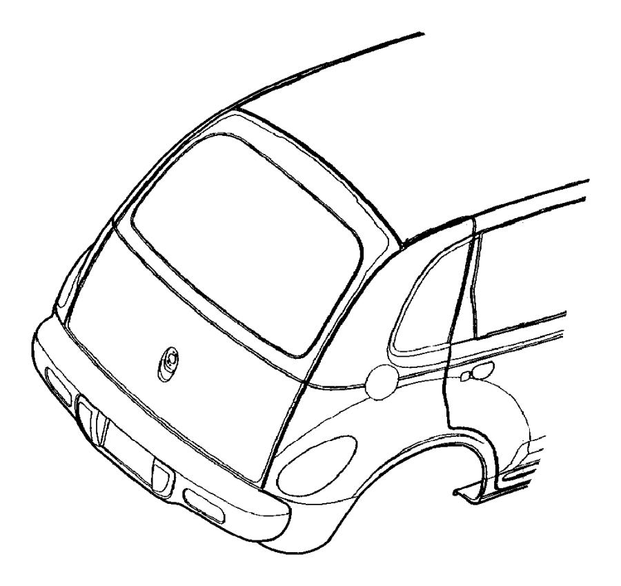 2003 Chrysler Pt Cruiser Molding. Roof. Right. Pel, dream
