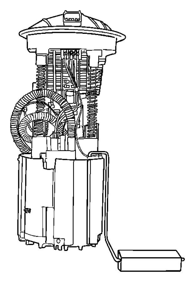 Chrysler Aspen Module package. Fuel pump/level unit