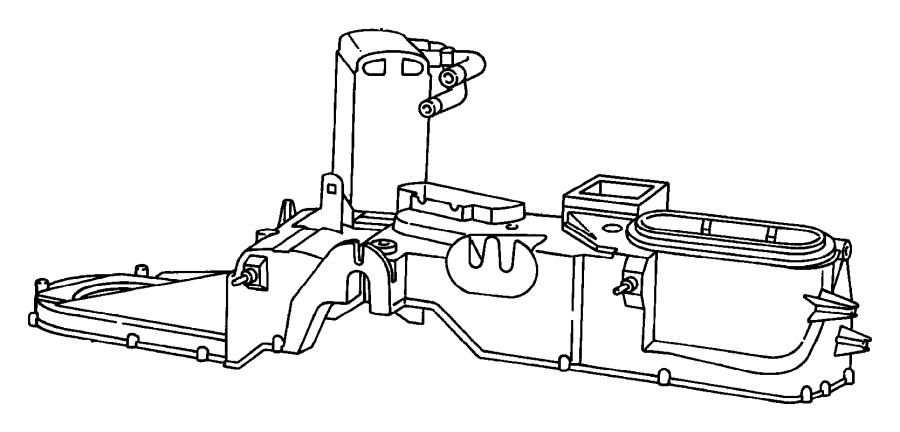 Dodge Ram 2500 Evaporator, evaporator package. Air