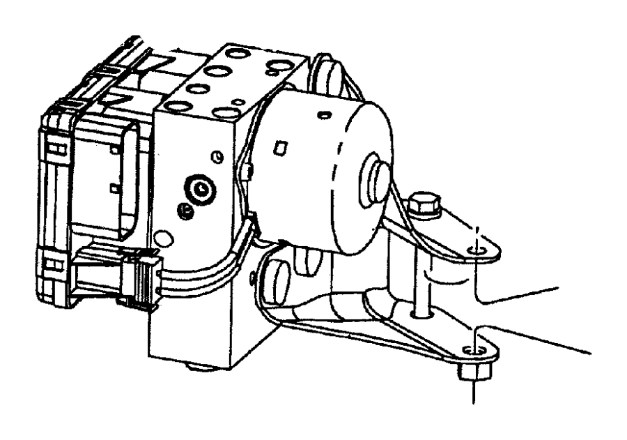 Dodge Intrepid Hydraulic control unit. Anti-lock brake