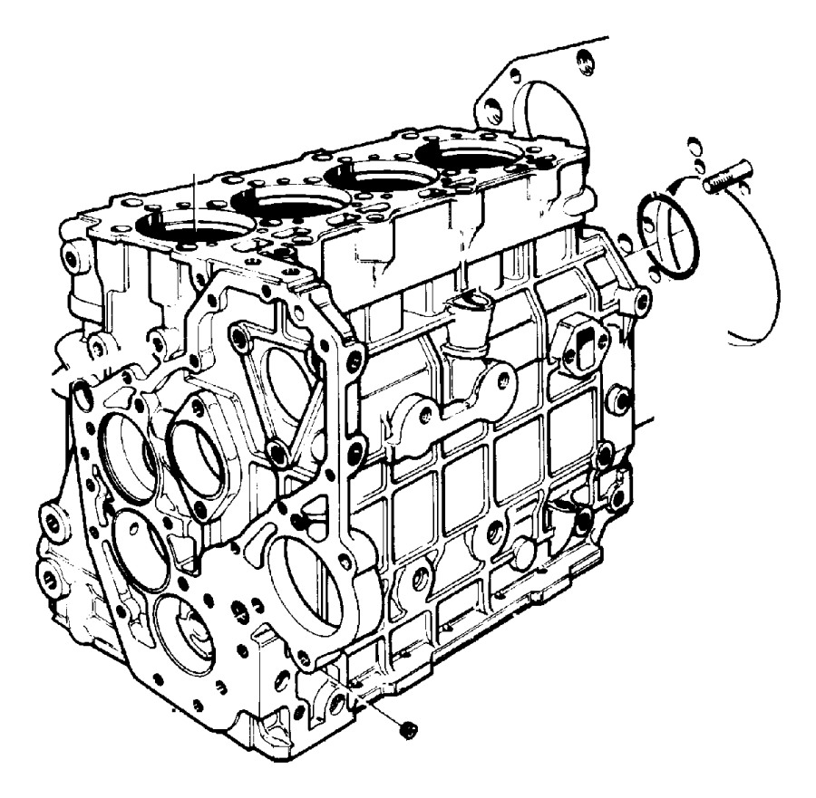 CYLINDER BLOCK AND SUPPORTS 2.5L DIESEL ENGINE