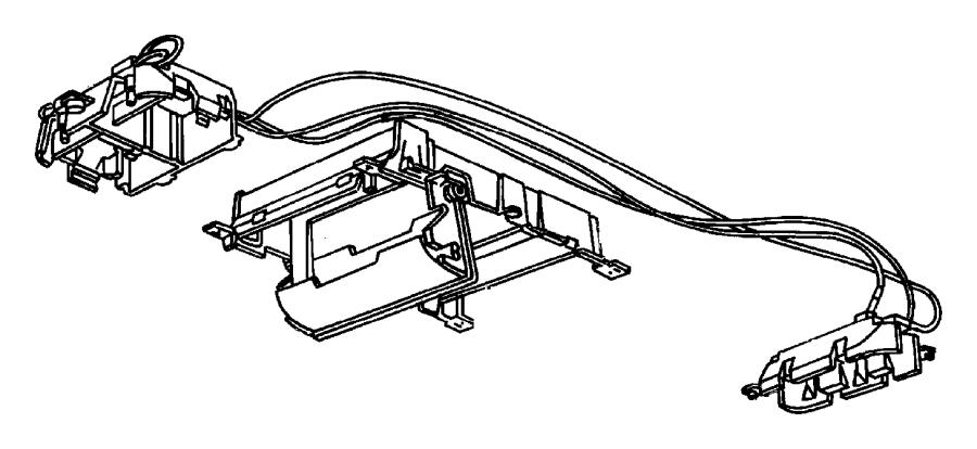 1994 Jeep Wiring. Overhead console. Trim: (*o0