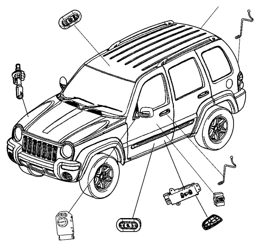 2006 Jeep Liberty Switch. Sunroof. [cud]. Trim: (*o0