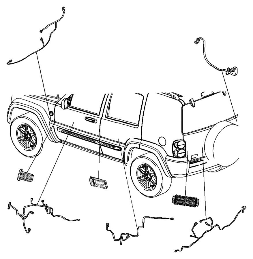 Jeep Liberty Wiring. Jumper, power door lock. Handle