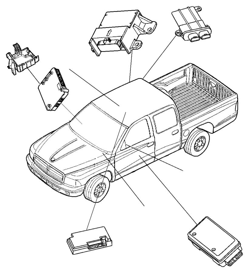 2006 Dodge Ram 1500 Module. Telematics. Areas, vechile