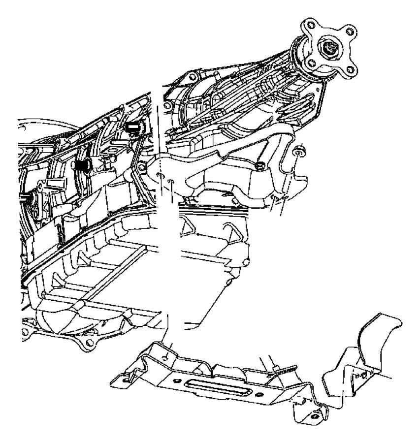 2013 Dodge Dart Insulator. Transmission support