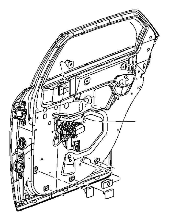 2006 Dodge Magnum Weatherstrip. Rear door belt. Right