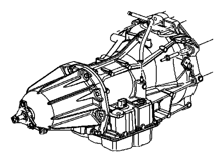 2007 Dodge Charger Hose. Transmission vent. Mounting