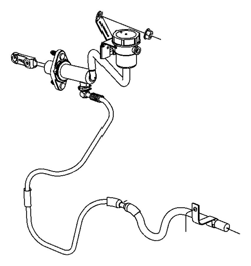 1997 Dodge Bushing. Hydraulic clutch actuator