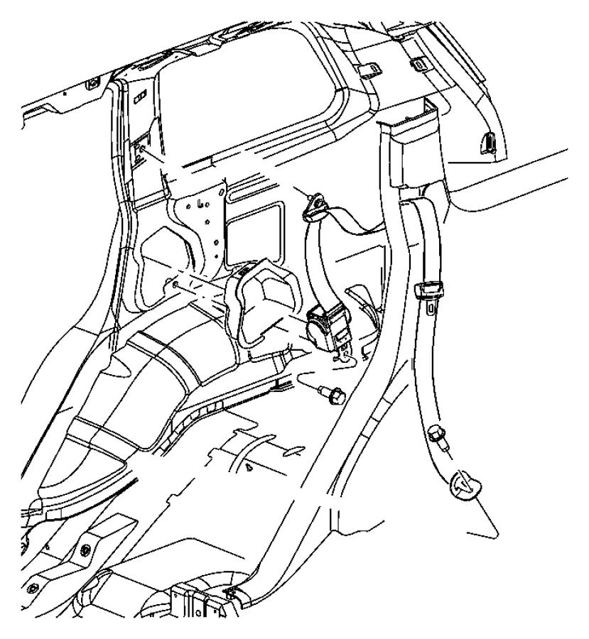 Dodge Caravan Extender. Seat belt. Front and rear. Trim