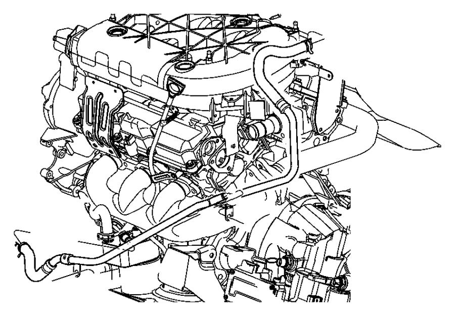2005 Chrysler Pacifica Hose. Coolant reserve tank