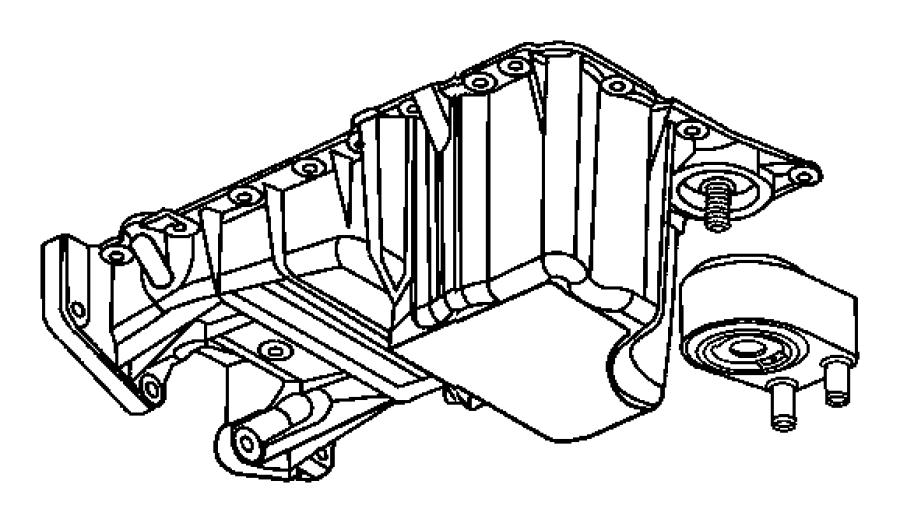 Engine Oil Cooler, Oil Filter And Coolant Tubes 3.5L [3.5L