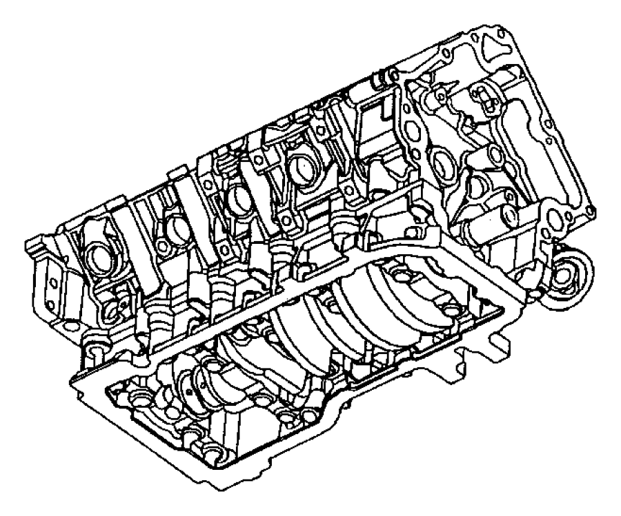 Dodge Ram 1500 Engine. Short block. Remanufactured