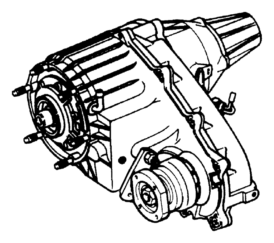 Transfer Case Assembly And Identification NVG 273 [Elec