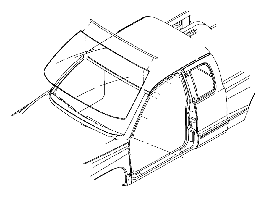 2000 Dodge Dakota Molding. Right. Windshield, windshield