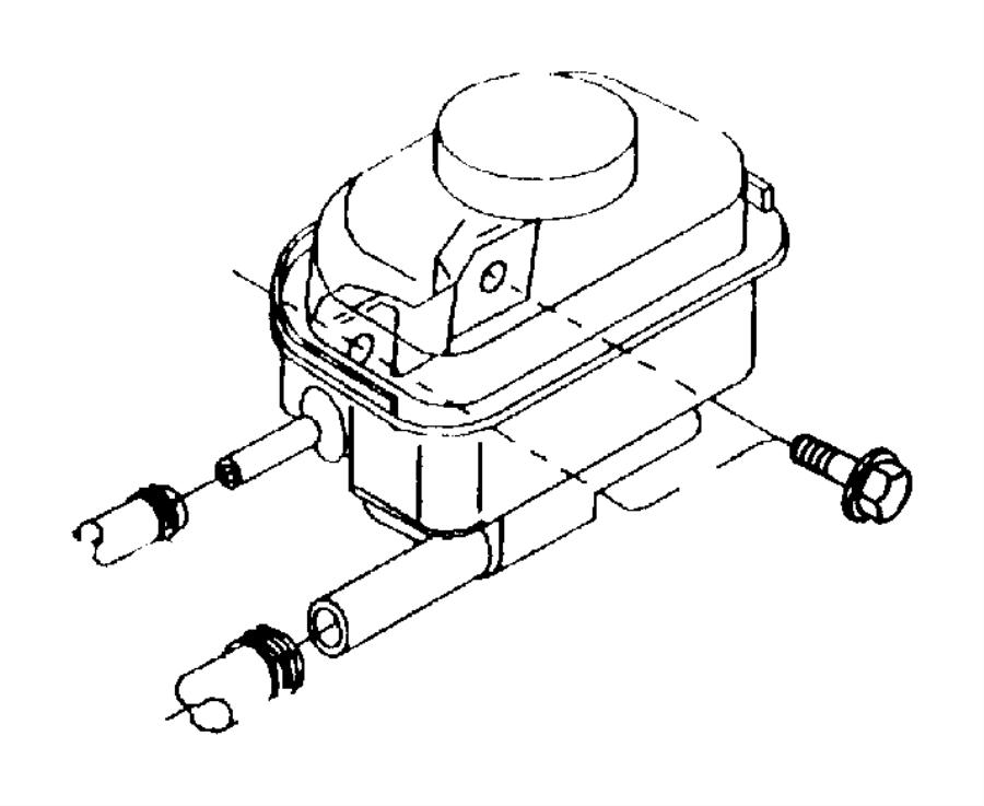 Chrysler Sebring Reservoir. Power steering pump. With cap