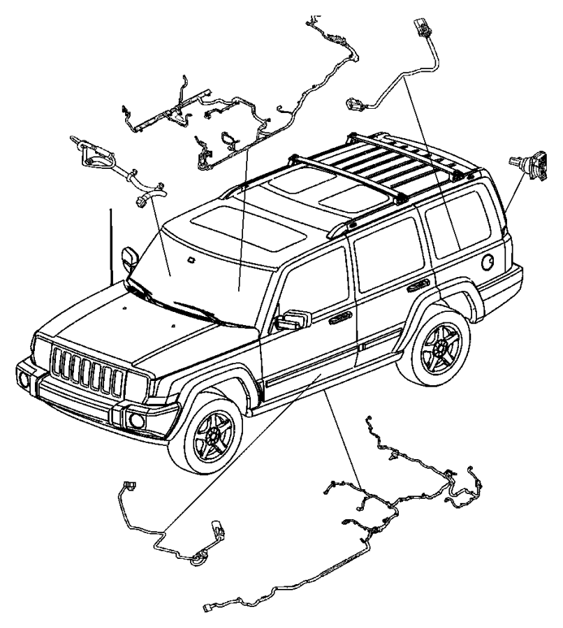 Jeep Commander Wiring. Pretensioner, pretentioner, seat