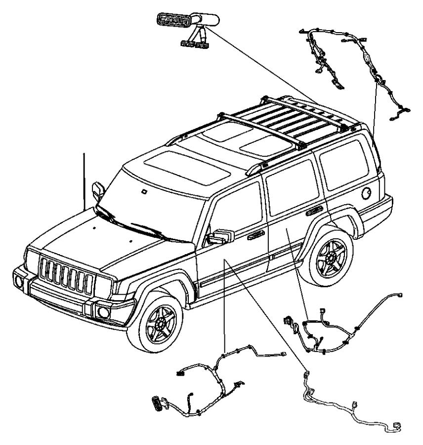 2006 Jeep Commander Wiring. Front door. Driver, drivers