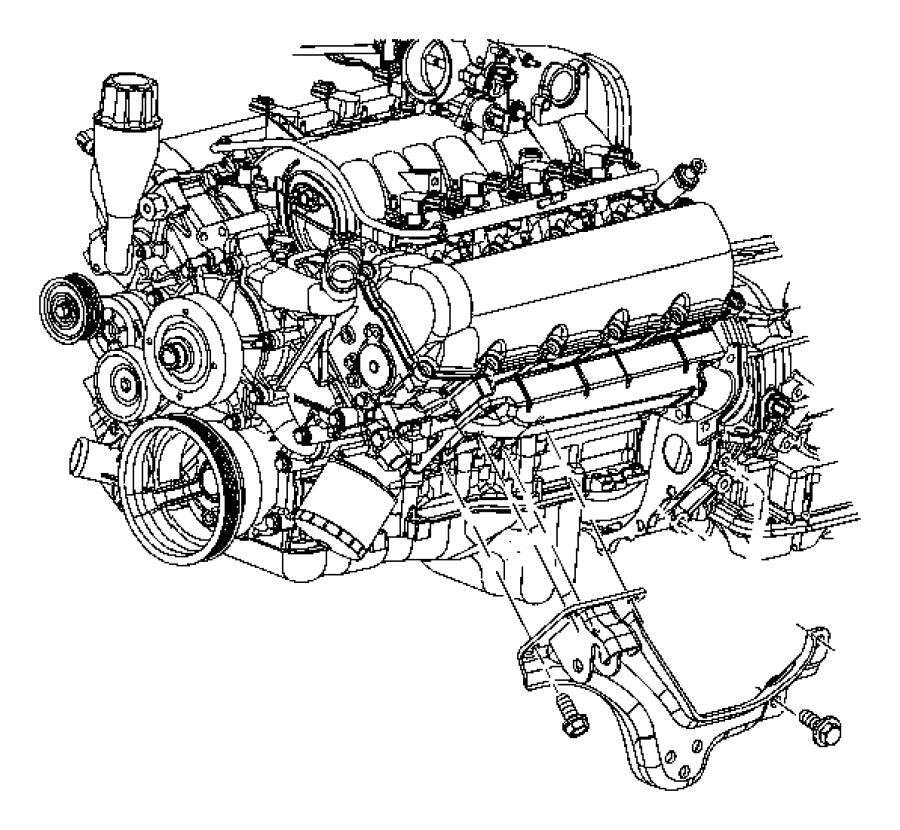 2006 Dodge Ram 1500 Mounts, Front, 4WD.