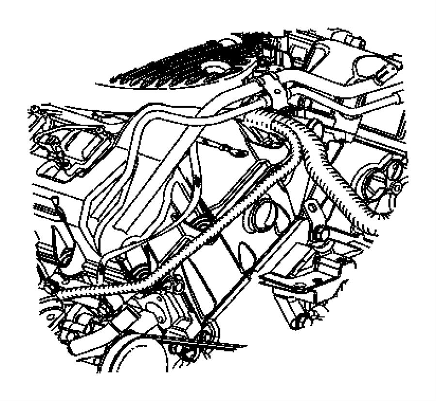 Chrysler Sebring Strap. Ground. Block to shock tower