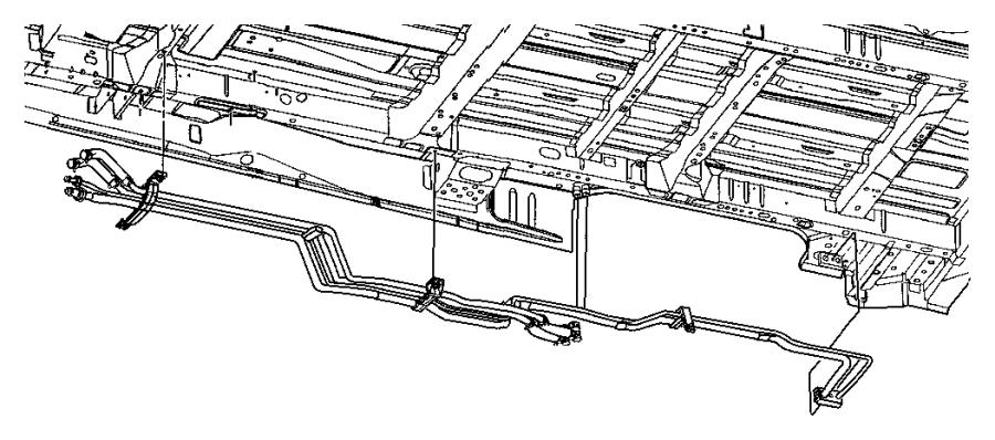 2005 Dodge Grand Caravan Line. A/c suction, auxiliary a/c