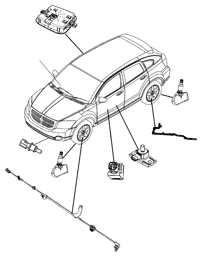 Jeep Patriot Sensor. Dynamics. Lateral acceleration and
