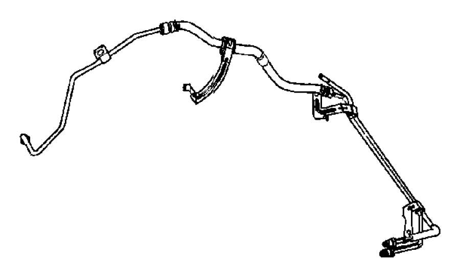 2007 Jeep Compass Hose, line. Power steering pressure