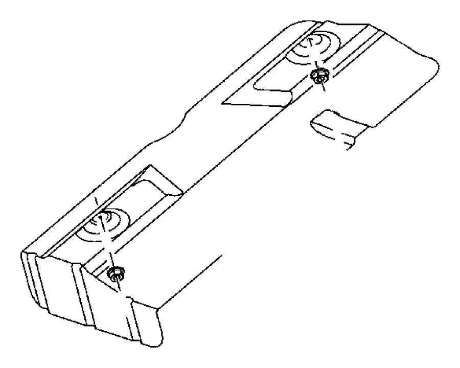 Jeep Patriot Shield. Floor pan. Muffler, rear, rear