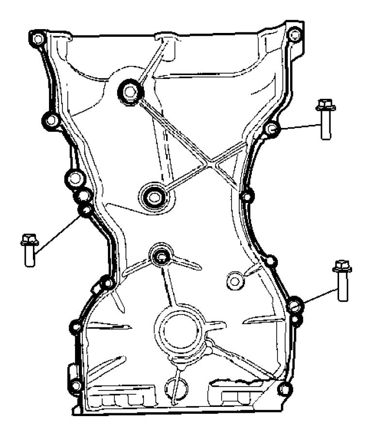 Jeep Patriot Timing Case Cover 2.4L [2.4L 4 Cyl DOHC 16V