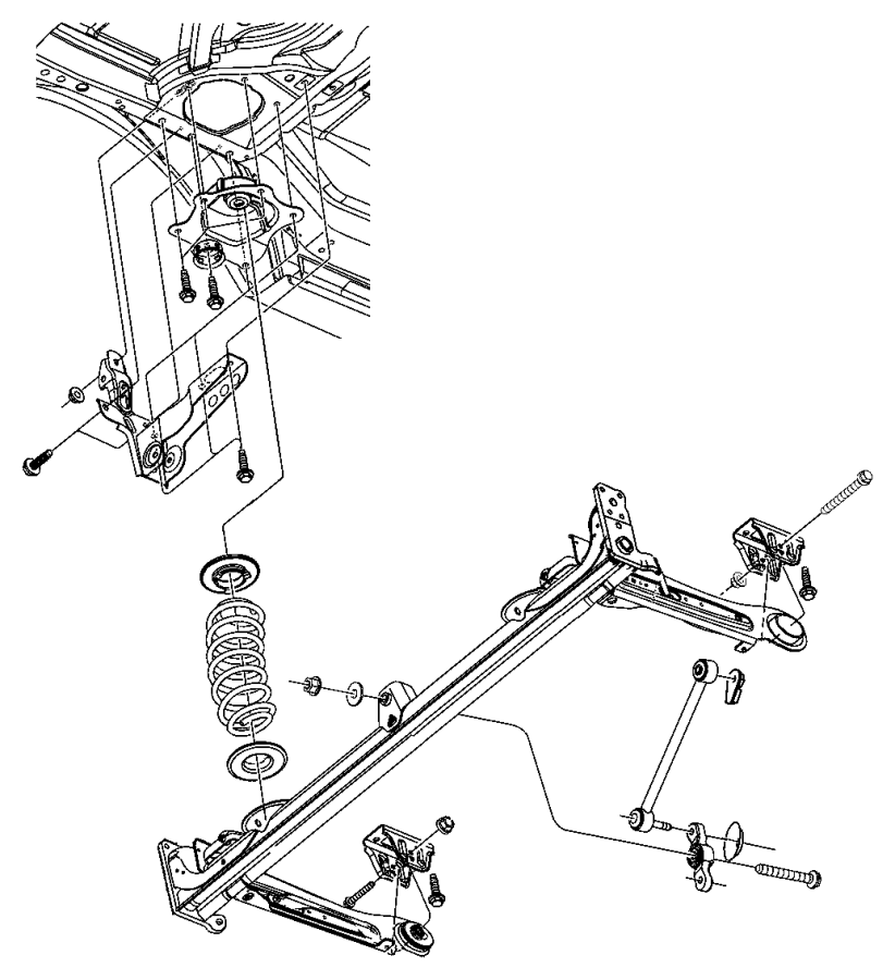 2001 Chrysler Pt Cruiser Link. Sway eliminator, trackbar